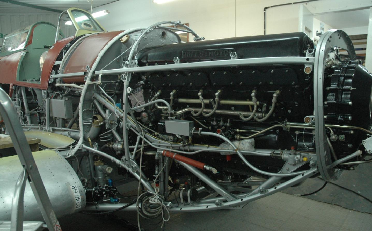 Hawker Hurricane V7497 restoration update - August 2016 - Rolls-Royce Merlin III engine
